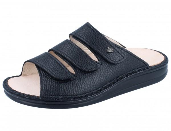 FINN COMFORT Korfu Damen Herren Pantolette schwarz/Bison