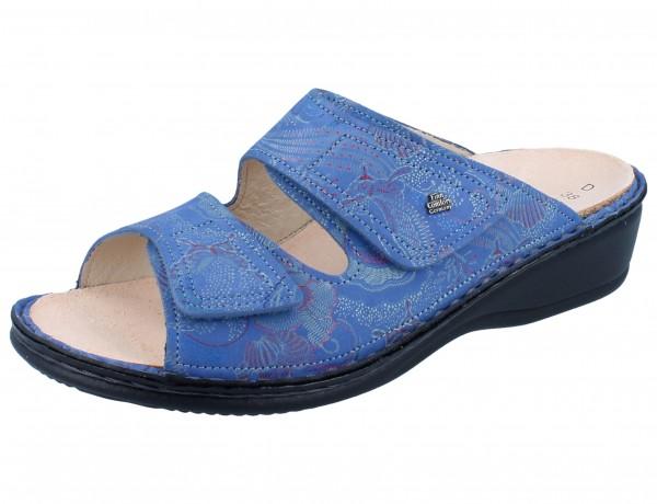FINN COMFORT Jamaika Damen Pantolette blau pacific/Shibu