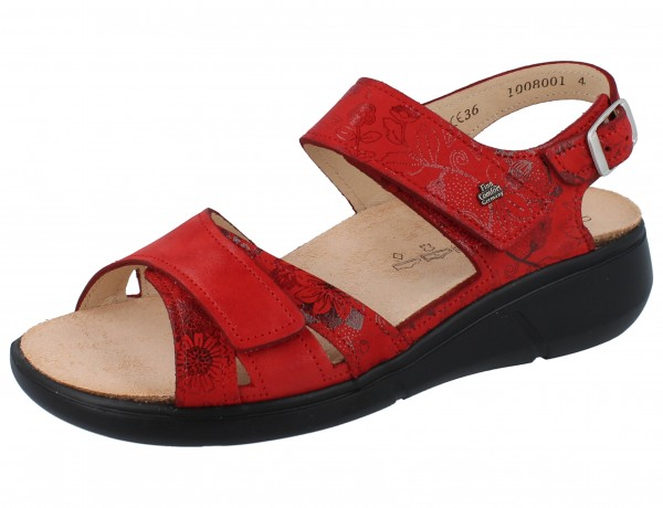 FINN COMFORT Nadi Damen Sandale rot red Jardin/Kennedy