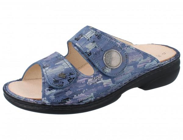 FINN COMFORT Sansibar Damen Pantolette blau seablue/Tayfun