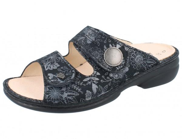 FINN COMFORT Sansibar Damen Pantolette grau anthracite/Jardin